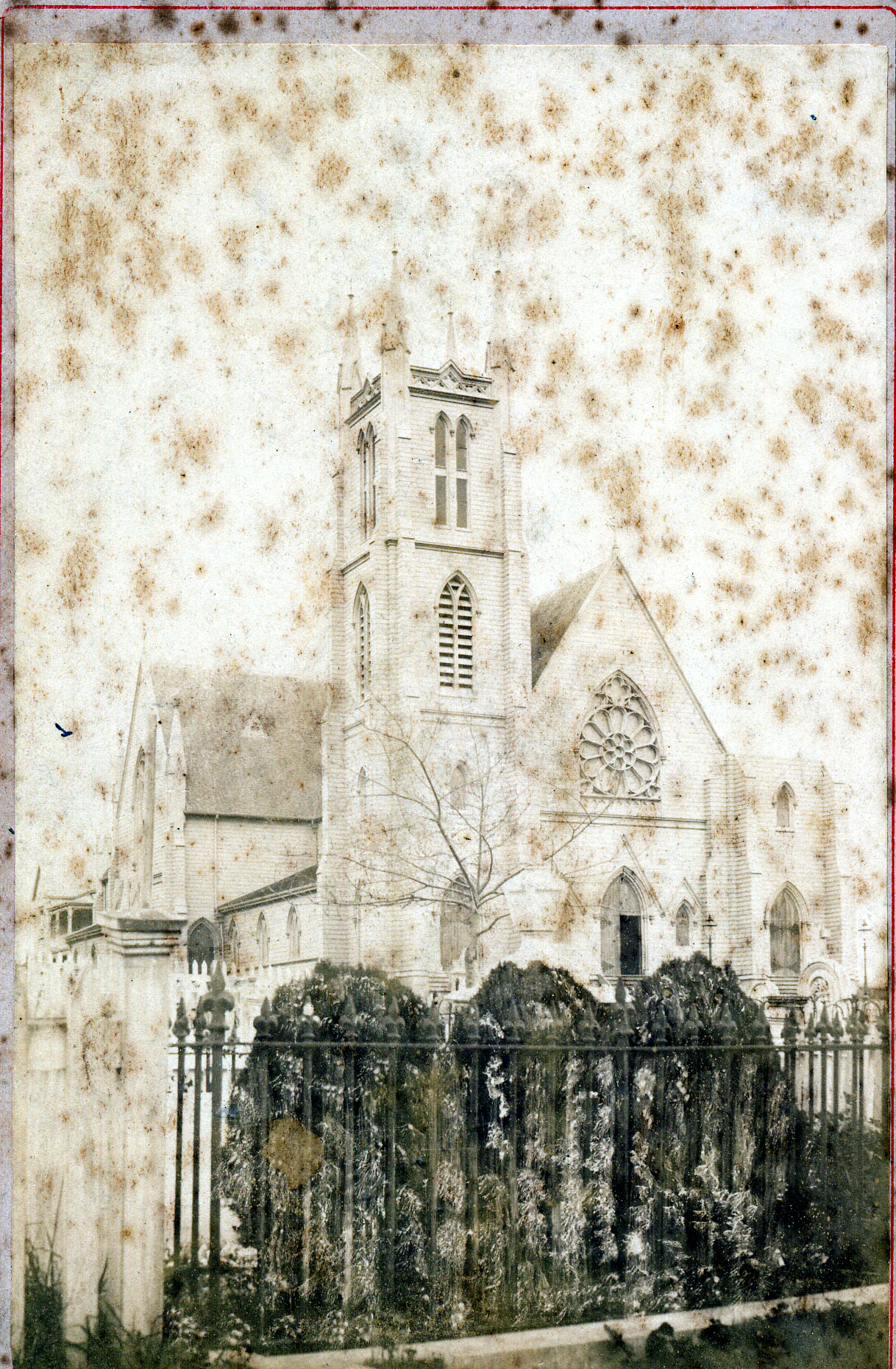 St Benedict's Church burned 1886